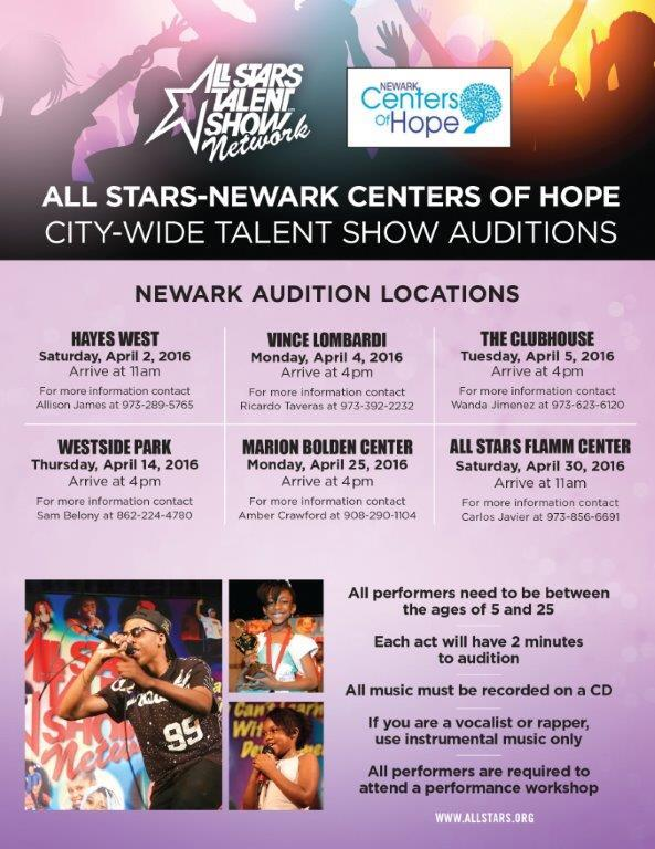 All Star Talent Show Auditions (Office of The Mayor) &mdash