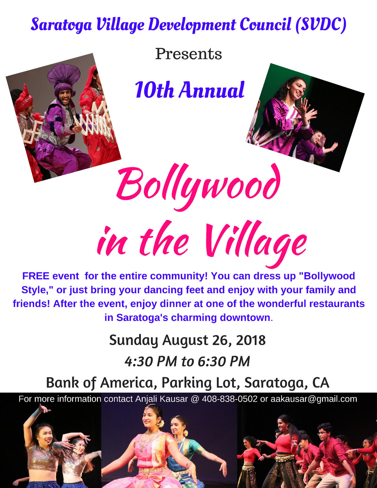 Bollywood In The Village This Sunday August 26 City Of