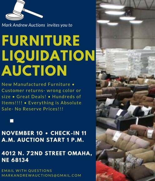 Nov 10 Furniture Liquidation Auction Nextdoor