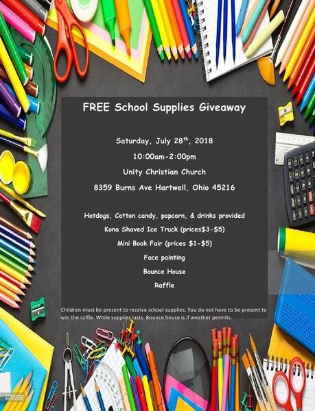 Jul 28 · School Supply Give-Away (Free) — Nextdoor