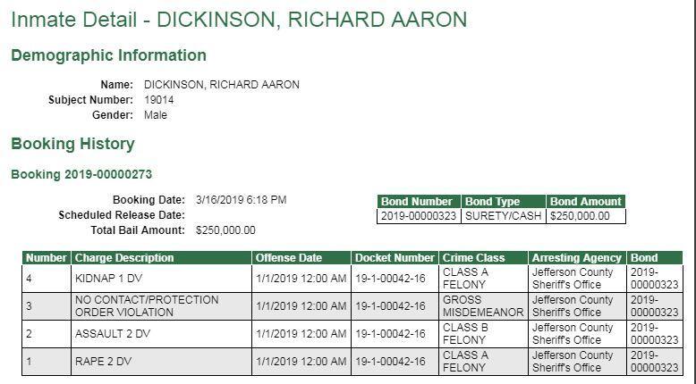 WANTED FELON RICHARD DICKINSON CAPTURED** (Clallam County