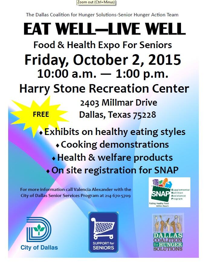 Eat Well - Live Well Food and Health Expo for Seniors (Dallas Police