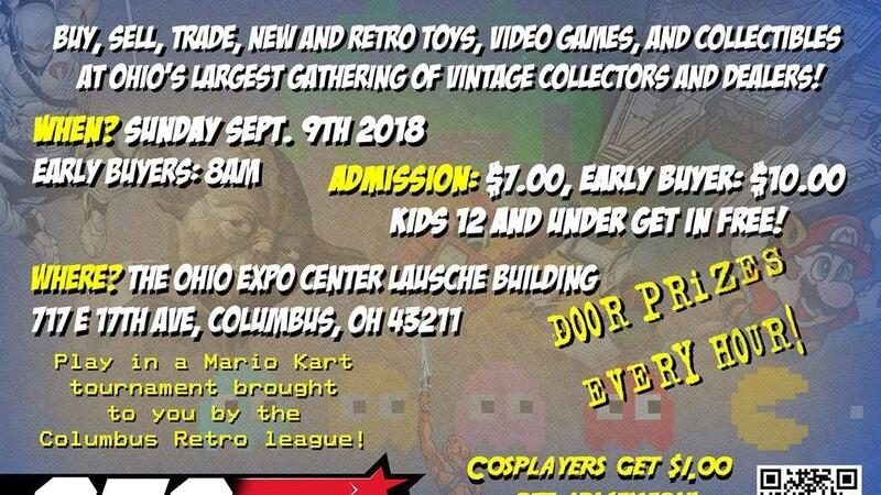 Sep 9 · Columbus Toy and Gaming Show 9/9 8-3pm I believe