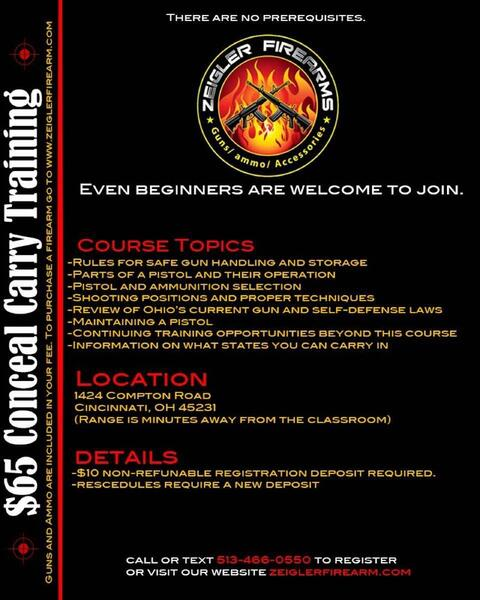 Oct 14 · Ohio Concealed Carry Training — Nextdoor