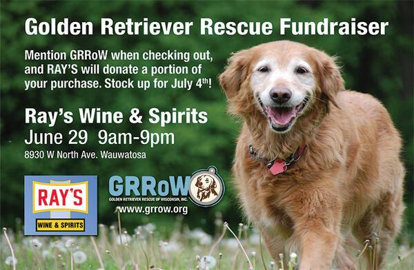 Jun 29 Golden Retriever Rescue Of Wisconsin Fundraiser At Rays