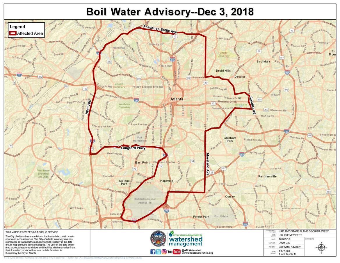 Boil Water Advisory Hapeville Fire Rescue Nextdoor