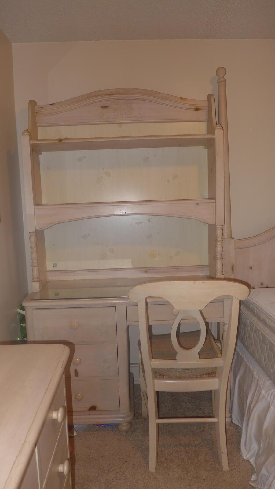 190 Thomasville Impressions Bedroom Set Full Bed Dresser Mirror Desk Chair For Sale Free Nextdoor