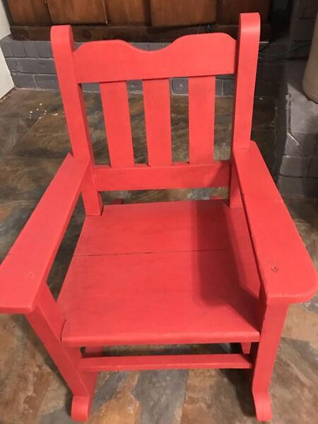 Amazing 45 Adorable Vintage 1940S Childs Rocking Chair Nextdoor Lamtechconsult Wood Chair Design Ideas Lamtechconsultcom