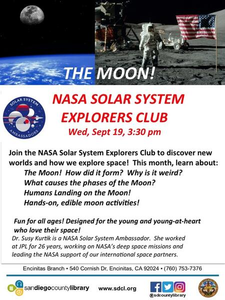 Sep 19 · NASA Solar System Explorers - All about the Moon