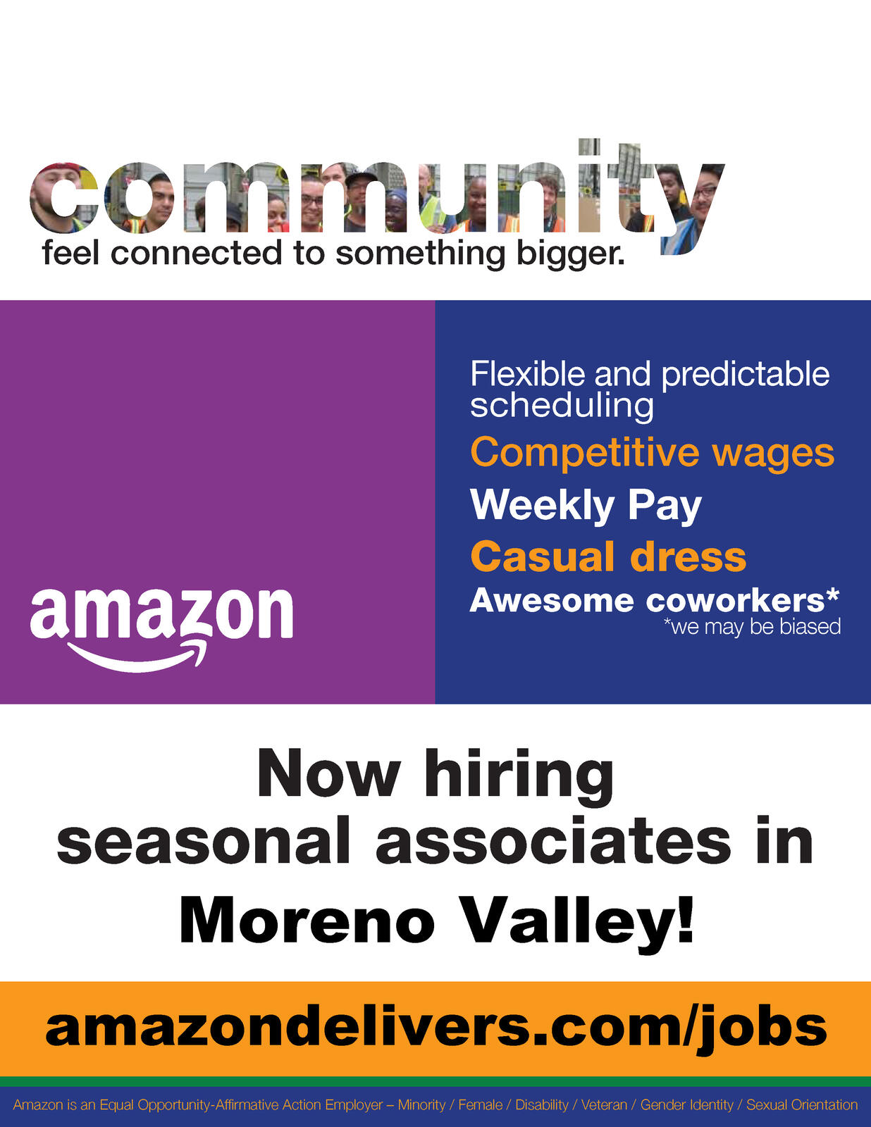 Amazon Com Applicationhelp >> Amazon Is Hiring Seasonal Associates City Of Moreno Valley Nextdoor