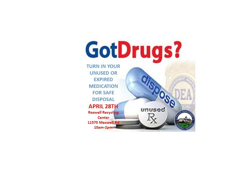 Roswell Recycling Center >> Prescription Drug Take Back Event Roswell Police Department Mdash