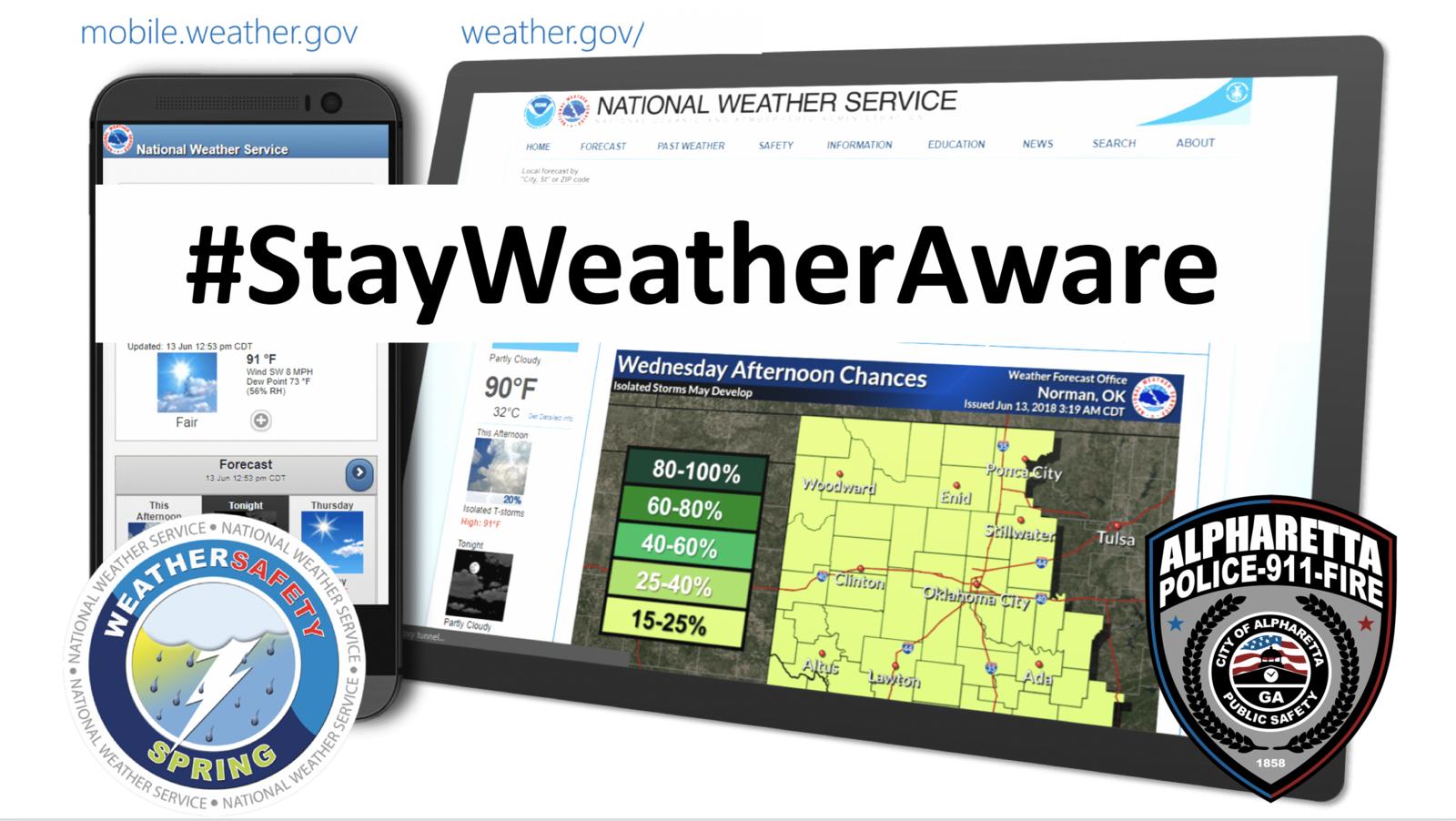 Let's review some severe weather alert tips (Alpharetta