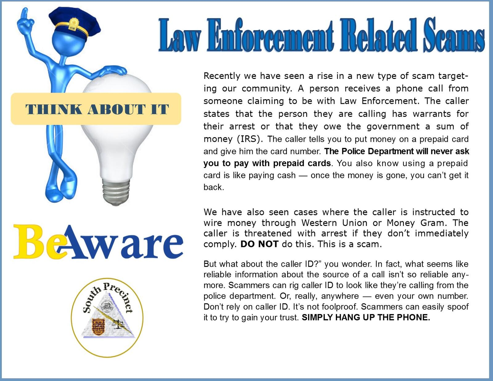 Law Enforcement Related Scams (DeKalb County Police Department ...