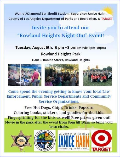 Rowland Heights Parks And Recreation | Rowlandayso215