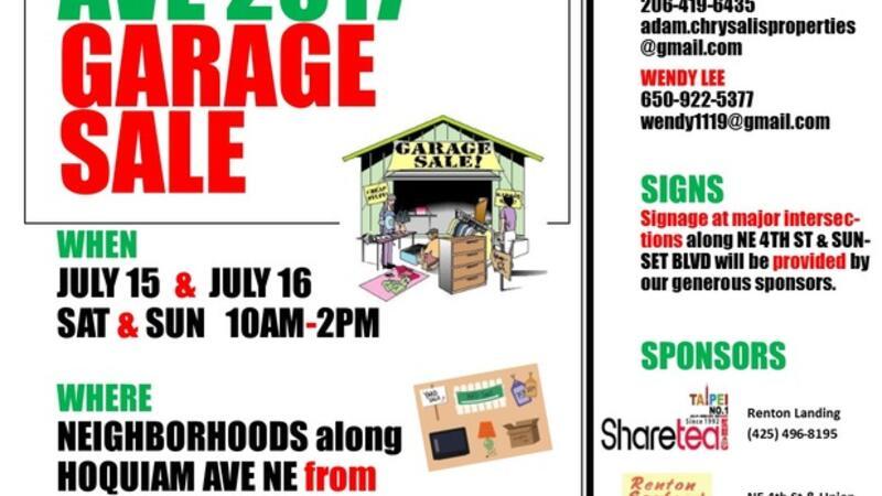 Jul 15 · 1ST ANNUAL HOQUIAM AVE GARAGE SALE — Nextdoor