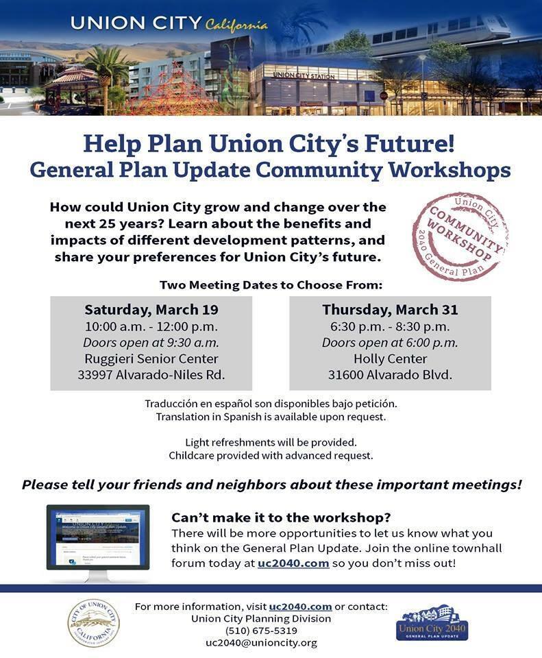 Help Plan Union City's Future! (City of Union City) — Nextdoor —  Nextdoor