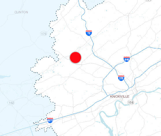 Powell Area Service Outage (Knoxville Utilities Board) &mdash ... on ct outage map, ugi outage map, wps power outages map,
