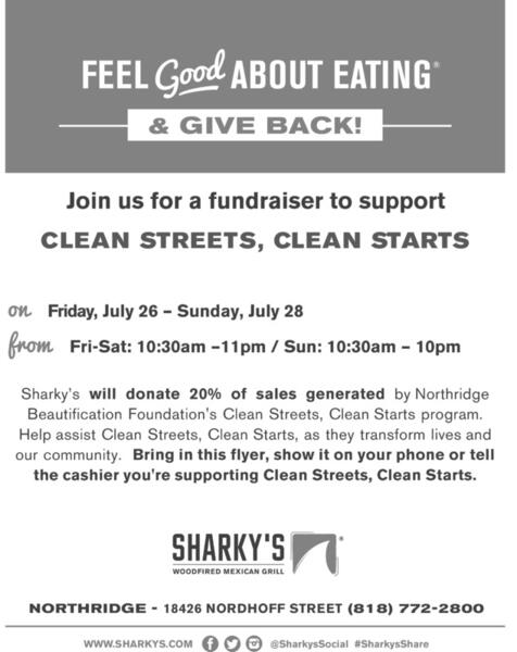 Jul 26 · FUNDRAISER FOR CLEAN STREETS CLEAN STARTS - AT SHARKY'S