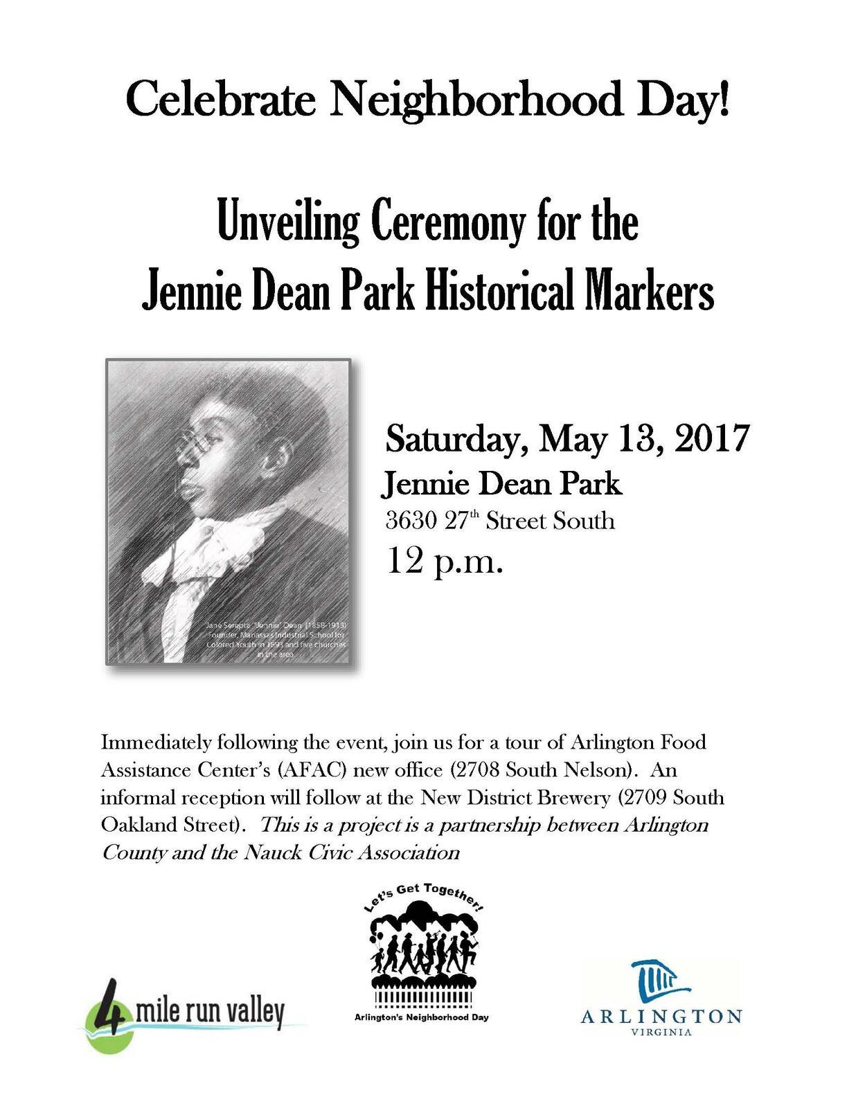 May 13 · Jennie Dean Park Historical Marker Unveiling — Nextdoor