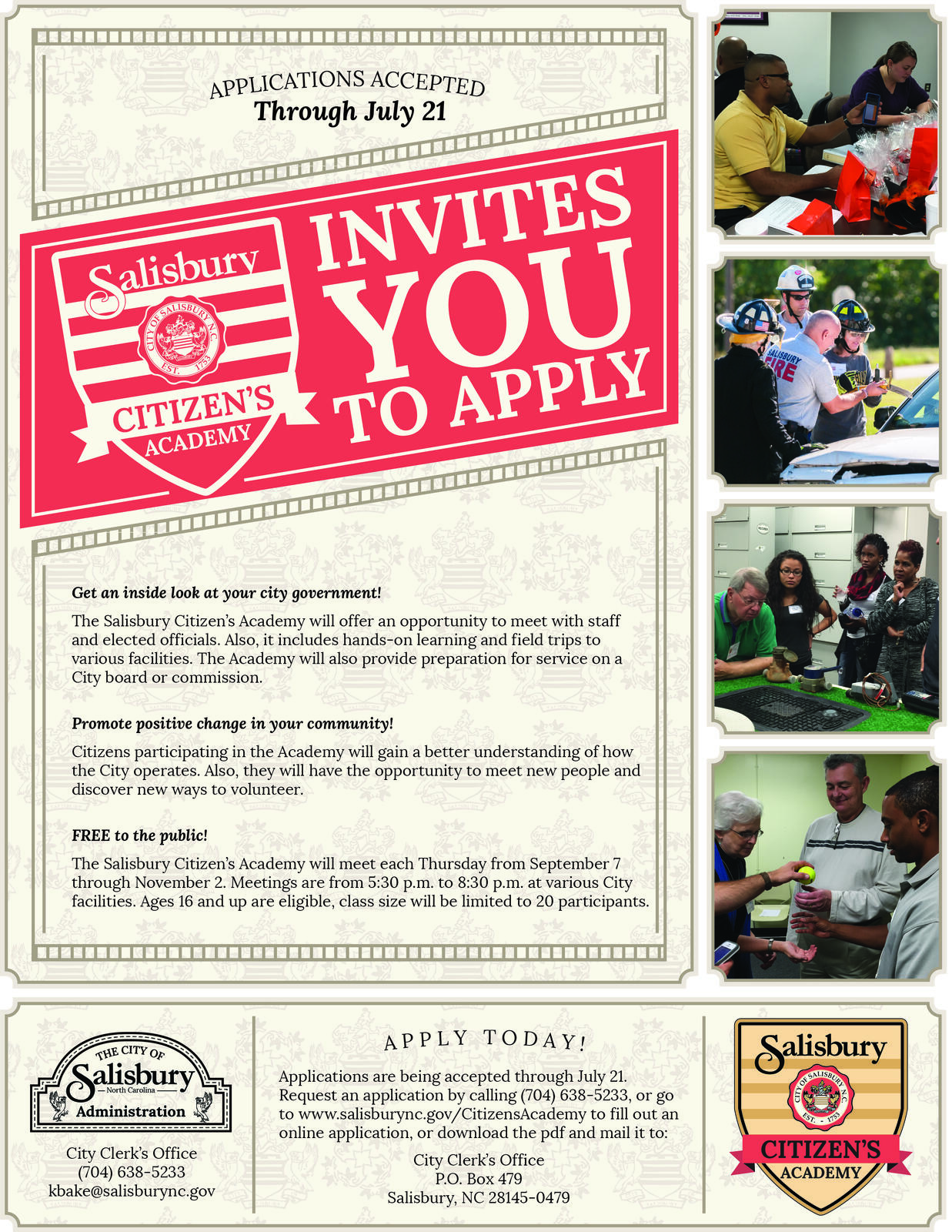 Applications now accepted for the 2017 Citizen's Academy (City of