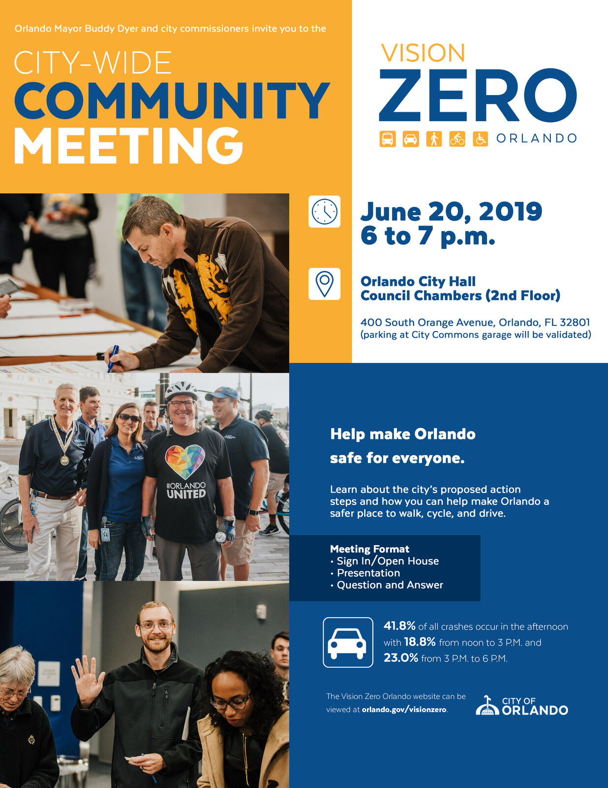 Vision Zero Action Plan Meeting - 6/20 (City of Orlando