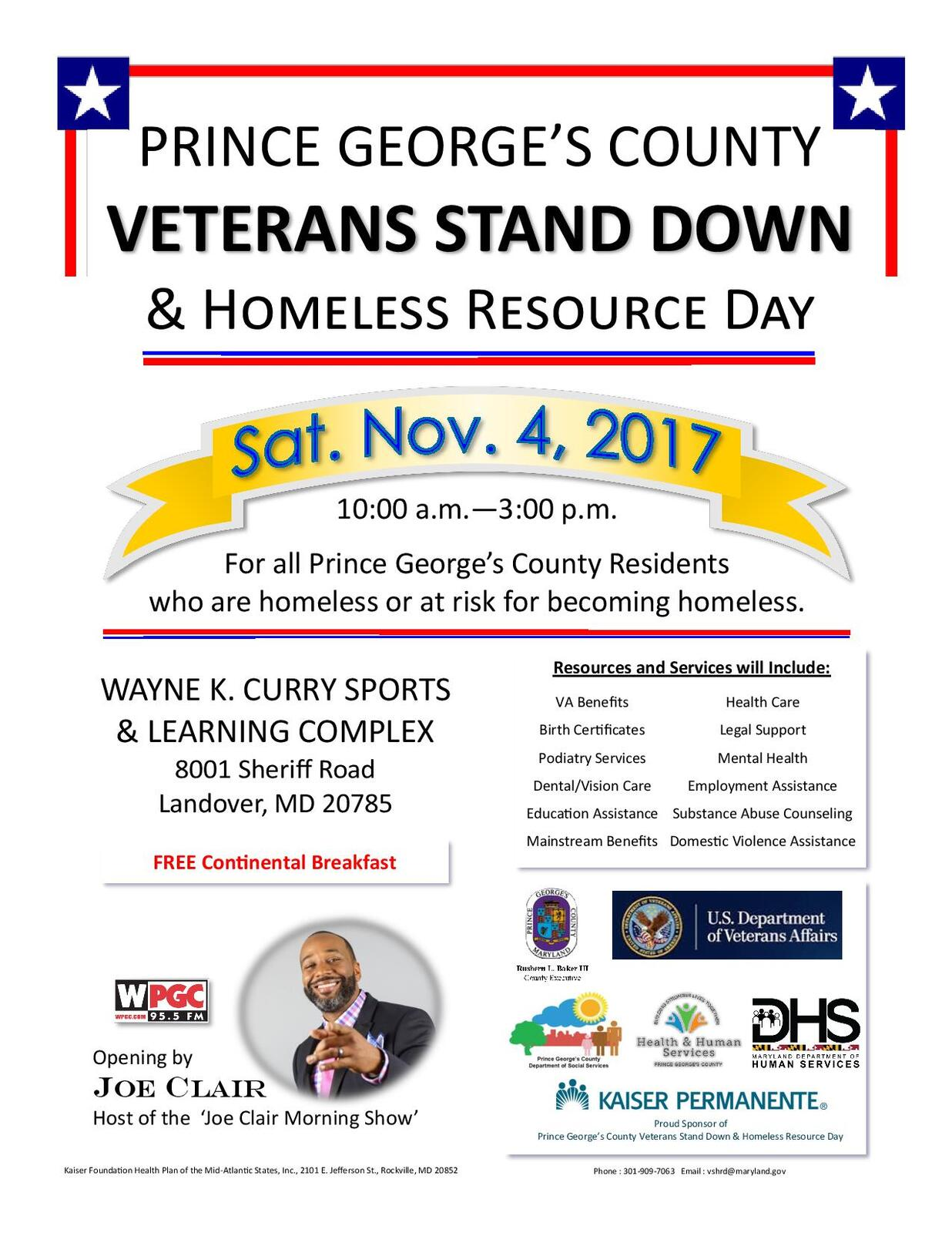 Veterans Stand Down Homeless Resource Day 2017 Prince Georges