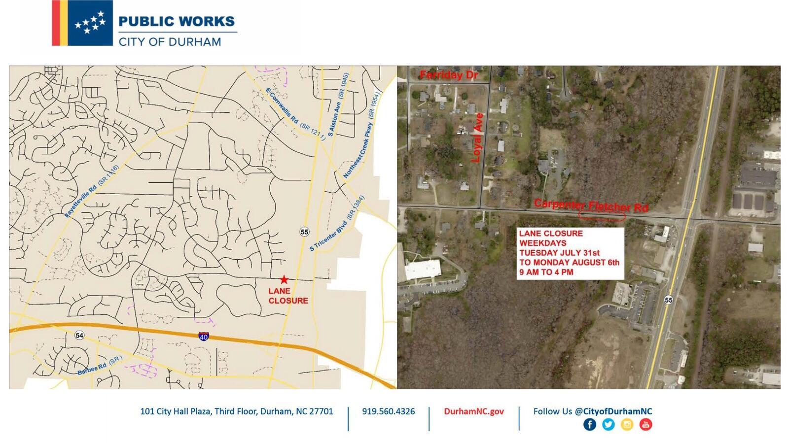 Durham Begins Construction Project To Stabilize Carpenter Fletcher